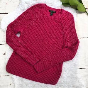 Lauren Ralph Lauren Pink Ribbed Pullover Sweater